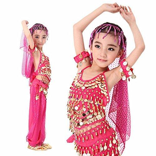Tanzkleid Bauchtanz Chiffon Pailletten Halloween tanzkleidung Karneval Kostüme (Kinder Einfach Halloween Handwerk)