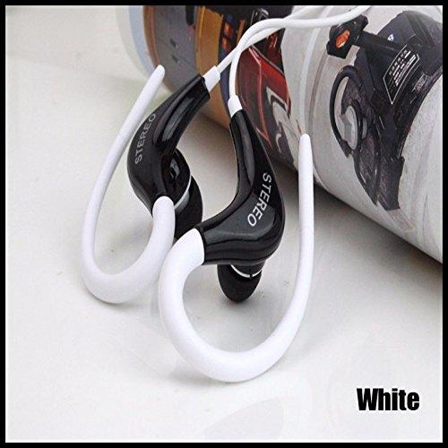 Sport Gym Kopfhörer-Ohr Ohrbügel Kopfhörer Laufen Joggen mit Mikrofon Headset (Schiff von epacket kostenlos), weiß -