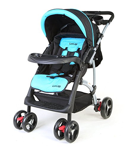 LuvLap 18117 Baby Stroller Sports (Blue/Black)