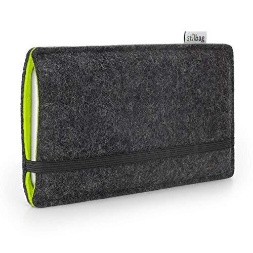 Stilbag Handyhülle Finn für Samsung Galaxy Note 8 | Farbe: anthrazit/apfelgrün | Smartphone-Tasche aus Filz | Handy Schutzhülle | Handytasche Made in Germany