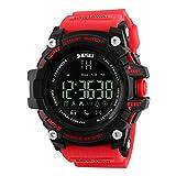 Reloj Inteligente Xinan Reloj impermeable Bluetooth resistente al agua Phone Mate para teléfono inteligente deportivo con presión arterial / Oxímetro y pulsómetro para iPhone (❤️Rojo)