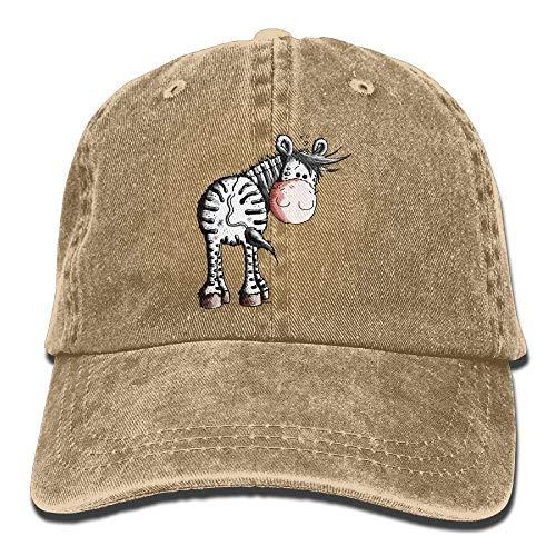 Presock Funny Zebra Denim Hat Adjustable Mens Fitted Baseball Caps - Zebra Bottle Cap