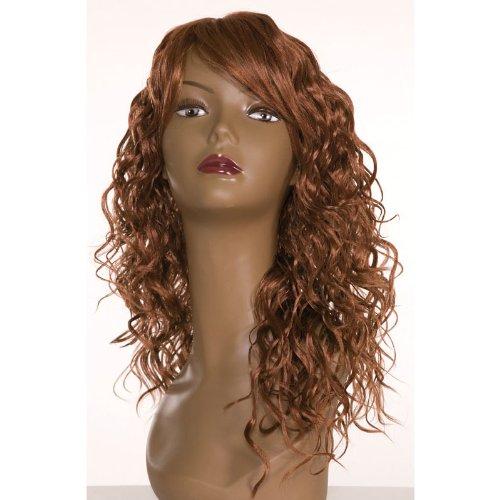 Dream Hair Wig Cool : 30 cheveux synthétiques perruque de longueur moyenne bouclés cheveux synthétiques Châtain Blond)