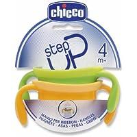 Chicco 00060076000000 Griffe neutral, Step Up Fläschchen, gelb/grün