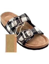 BIOSOFT Damen Sandale ANN Frauen Freizeit Schuh   Sandalette   Pantolette    Schlappen mit verstellbarem Riemchen Verschluss - Gr. 37… f13c01f46a
