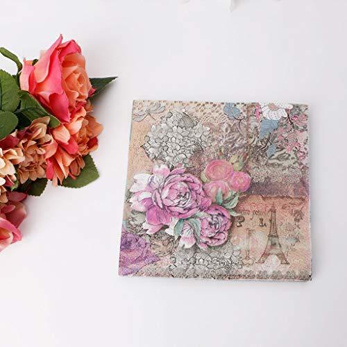 Servilletas papel lunares multicolores decoración
