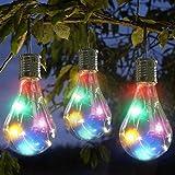 Erthome-Ampoule à suspendre à énergie solaire, cuivre, à LED pour jardin, camping, étanche, pivotante