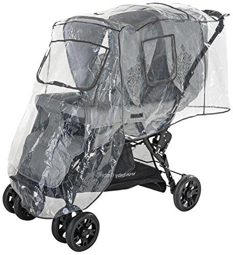 DIAGO 30009.75266 Komfort Regenschutz Geschwisterwagen