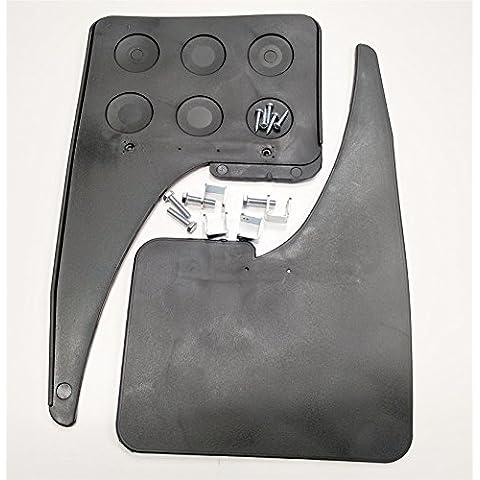 Street Stylish Car Plain Front Pair Mud Flaps Guard Black Kit Car Race And (Flap Mud Kit)