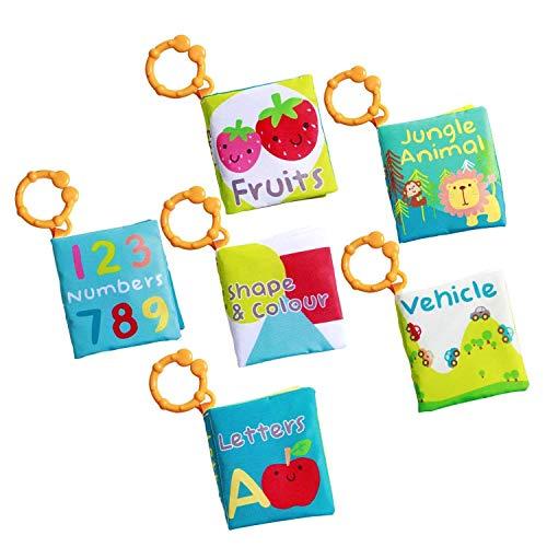Labebe Libro Infantiles, Paquete de 6 Tela Libro Niño para...