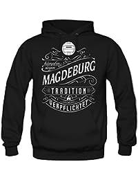 Mein leben Magdeburg Kapuzenpullover | Freizeit | Hobby | Sport | Sprüche | Fussball | Stadt | Männer | Herren | Fan | M1 Front