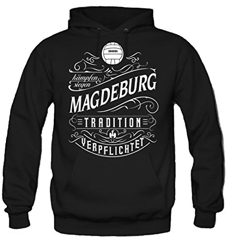Mein leben Magdeburg Kapuzenpullover | Freizeit | Hobby | Sport | Sprüche | Fussball | Stadt | Männer | Herren | Fan | M1 Front (L)