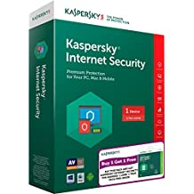 Combo Pack - Kaspersky Internet Security Latest Version- 1 PC, 1 Year (CD) + Kaspersky Internet Security for Android