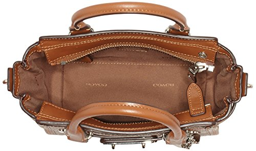 Coach - Swagger 21, Borsa a spalla Donna Marrone (saddle)