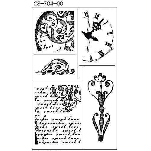 RAYHER - 2870400 - Silikon-Stempel, klar, Blumen Collect. 2, 3,5-7 cm, SB-Karte 5 Motive -