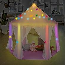 Tienda de Campaña Infantil para Niños Castillo de Princesa, Casita de Juego Plegable para Interior