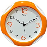 Ajanta Plastic Round Wall Clock (28 cm x 28 cm x 3.5 cm, Orange)