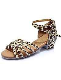 Zapados de Baile Latino para niña Zapatos para niña Zapatos de Baile Satin de salón Salsa Tango Latino
