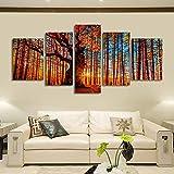 ETH Soggiorno decorazione della casa della tela pittura a olio rosso grande albero foglie di autunno paesaggio cinque pittura soggiorno divano sfondo muro corridoio portico (vernice core) carnevale di
