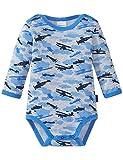 Schiesser Baby-Jungen Body 1/1, Grau (Grau-Mel. 202), 80 (Herstellergröße: 080)