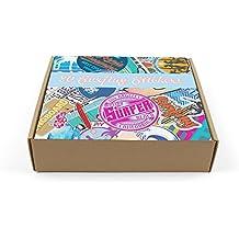 DestinationVinyl 20 Pegatinas en Caja de Regalo – Pegatinas de Surf – Surfing Laptop Tablet cumpleaños