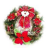 LIJUMN Herbst Kränze Herbstkranz Deko Kranz Xmas Santa Claus Kranz Deko Wandschmuck Tür- Und Wanddeko Selbst Gemacht Für Weihnachten Halloween Thanksgiving Heim Fenster Party Dekor