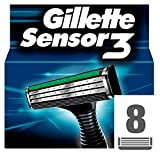 Gillette Sensor3 Herren Rasierklingen, 8er Packung