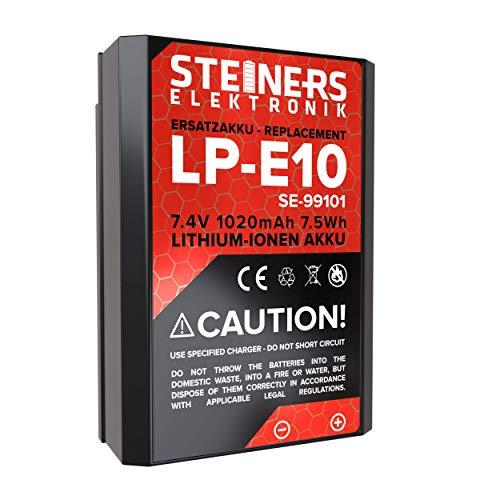Steiners Elektronik Akku für Canon EOS 1300D / 1200D / 1100D / 3000D / 4000D / LP-E10 / 1020 mAh / 7,4 V / 7,5WH mit Infochip
