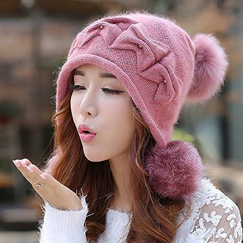 qwer Coniglio cappelli di lana bambini inverno lordo tappo a