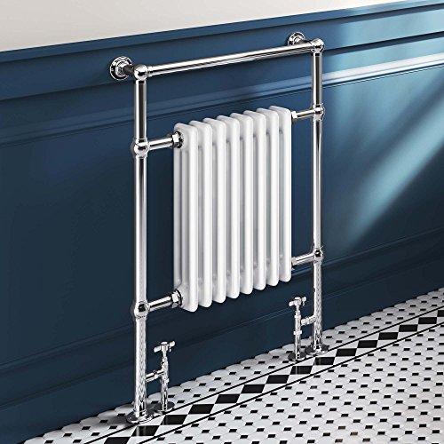 iBathUK 8 Column Traditional Vintage Heated Towel Rail Premium Bathroom Radiator - All Sizes