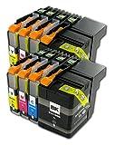 The Ink Squid 2set di LC129x L/LC125X L Brother compatibile Non-OEM cartucce di inchiostro per il fratello mfc-j6520ddw MFC-J6720DW mfc-6920dw stampanti