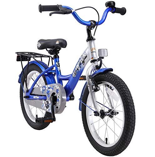 Bikestar Vélo Enfant pour Garcons et Filles DE 4-5 Ans ★ Bicyclette Enfant 16 Pouces Classique avec Freins ★ Bleu