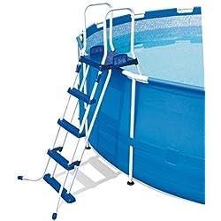 Bestway 58097 - Escalera para piscinas de 122 cm, con plataforma