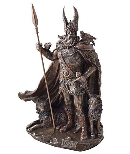 Göttervater Odin Gott bronziert Figur Skulptur Kriegsherr Totengott