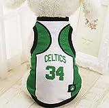 KayMayn - Camiseta de fútbol con licencia para perro, incluye 6 tallas, diseño de perro de fútbol, para disfraz de perros, para uso al aire libre, deporte, verano, transpirable, color Celtic, tamaño XX-Large