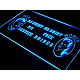 ADV PRO j037-b No Shirt Women Free Drinks Bar Beer Light Sign Barlicht Neonlicht Lichtwerbung
