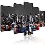 murando - Acrylglasbild New York 100x50 cm - 5 Teilig - Bilder Wandbild - modern - Decoration d-A-0022-k-n