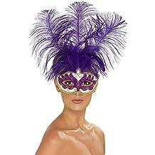 Genérico - 351807 - Lobo con las plumas púrpura veneciana Violetas Adultos