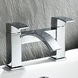 iBathUK Chrome Bath Filler Mixer Tap Monobloc Bathroom Lever Faucet TB94