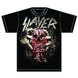 Slayer Herren Skull Clench T-Shirt, Schwarz-Schwarz, X-Large