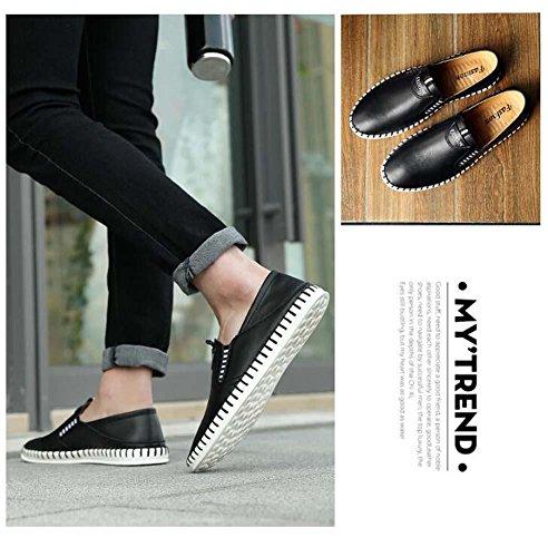 Pumpe Schlüpfen Beiläufig Schuhe Loafer Männer Atmungsaktiv hohl Pure Farbe Pedal Schuhe Sneaker Fahrschuhe Faulen schuhe Eu Größe 38-44 Black