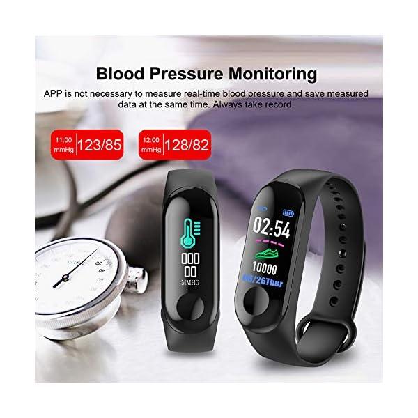 Aubess Pulsera Inteligente Fitness Tracker, M3, Pantalla táctil de Color, Impermeable, IP67, GPS, Monitor de sueño… 4