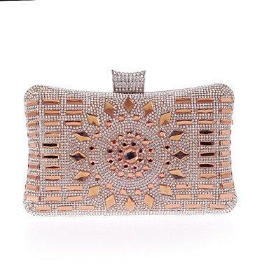 pwne L. In West Woman Fashion Luxus High-Grade Diamdons Abend Tasche Champagne