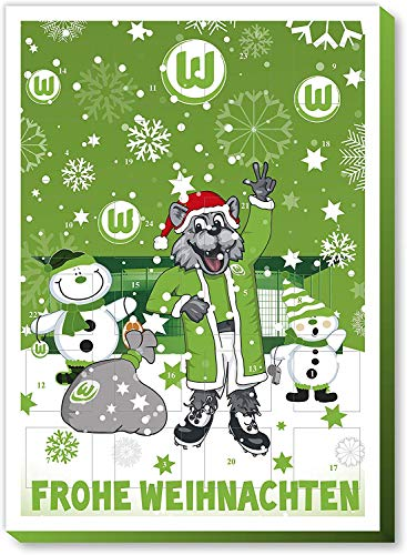 Fan-Shop Sweets VFL Wolfsburg Adventskalender 2019 (one Size, Multi)