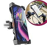 Mobilefox 360° Fahrrad Lenker Halterung Verstellbare Handy Lenkstange Halter Drehbar Smartphone Klemmhalterung für Samsung Galaxy Note 8 5 4 3 Edge