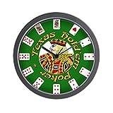 """Reloj de pared CafePress-Poker Poker-Unique decorative 10""""reloj de pared"""