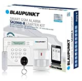 Blaupunkt Alarmanlage SA 2900R I GSM Funk-Sicherheitssystem mit Rolling Code I Im Set mit Bewegungsmelder, Tür/Fenstersensor, Fernbedienung, App I Alarmierung per SMS/Anruf