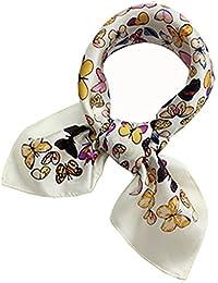a77e645715e7 Helan femmes Réel Soie Naturelle 53cm X 53cm petits foulards de soie carrés