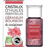 Florisens - Cristaux huiles essentielles géranium bourbon bio - 20 g cristaux d'huile essentielle -