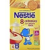Nestlé Papillas 8 Cereales Con Galleta María a Partir de 6 Meses - 600 g